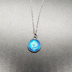 Cancer Zodiac Astrology Circle Necklace